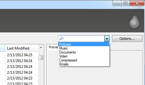Pilih Jenis File yang Akan Dipulihkan