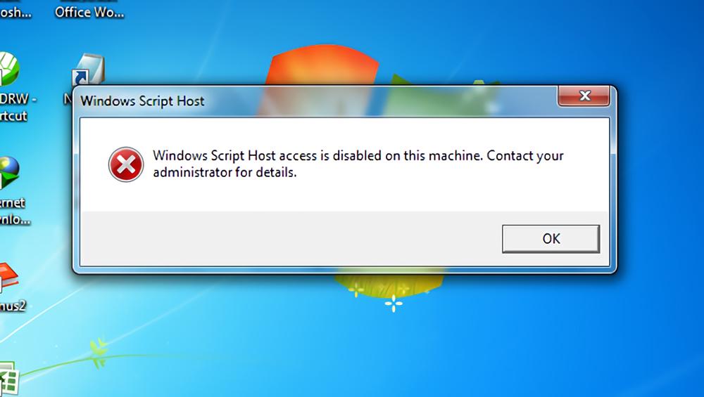 Cara Mengaatsi Windows Script Host Access Is Disabled On This Machine Pada Windows
