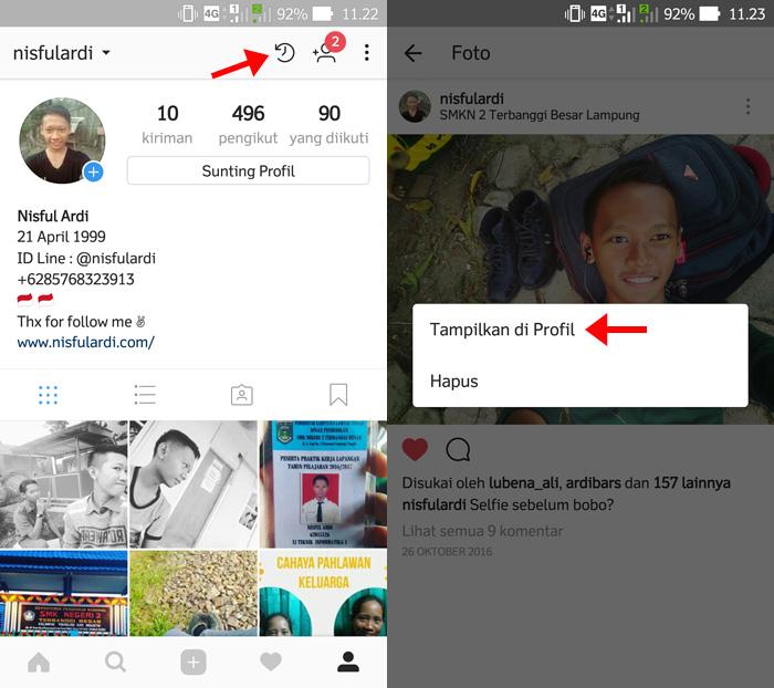 Cara Memunculkan Foto Yang Disembunyikan Instagram