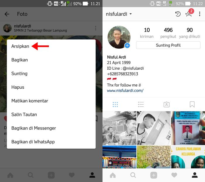 Cara Menyembunyikan Foto Instagram Tanpa Harus Menghapusnya