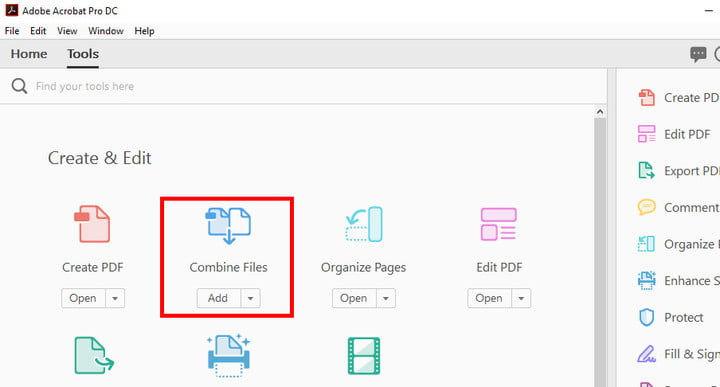 Pilih Combine Files