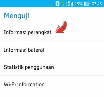 Pilih Informasi Perangkat