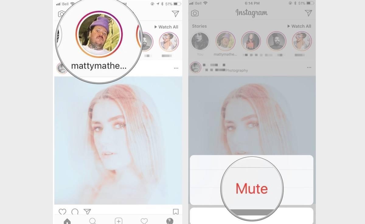 Cara Mute Instagram Story di Iphone