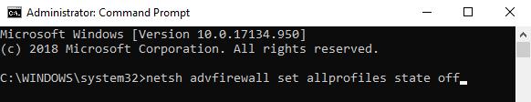 Mematikan Firewall