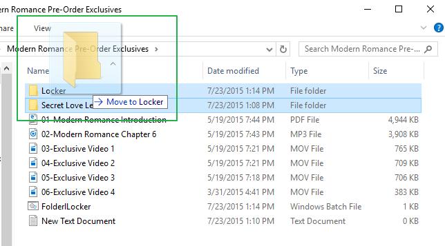 Pindahkan File yang Ingin Disembunyikan