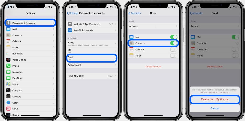 Cara menghapus kontak iPhone