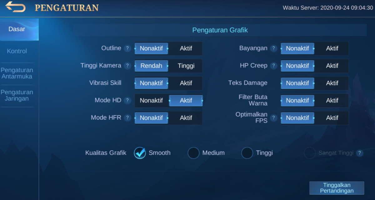 Pilih Mode HD
