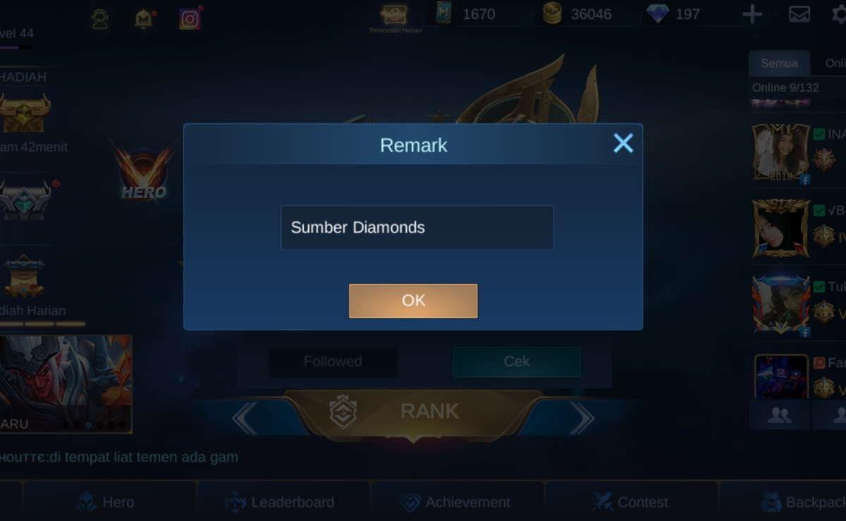 cara mengubah nama mobile legends