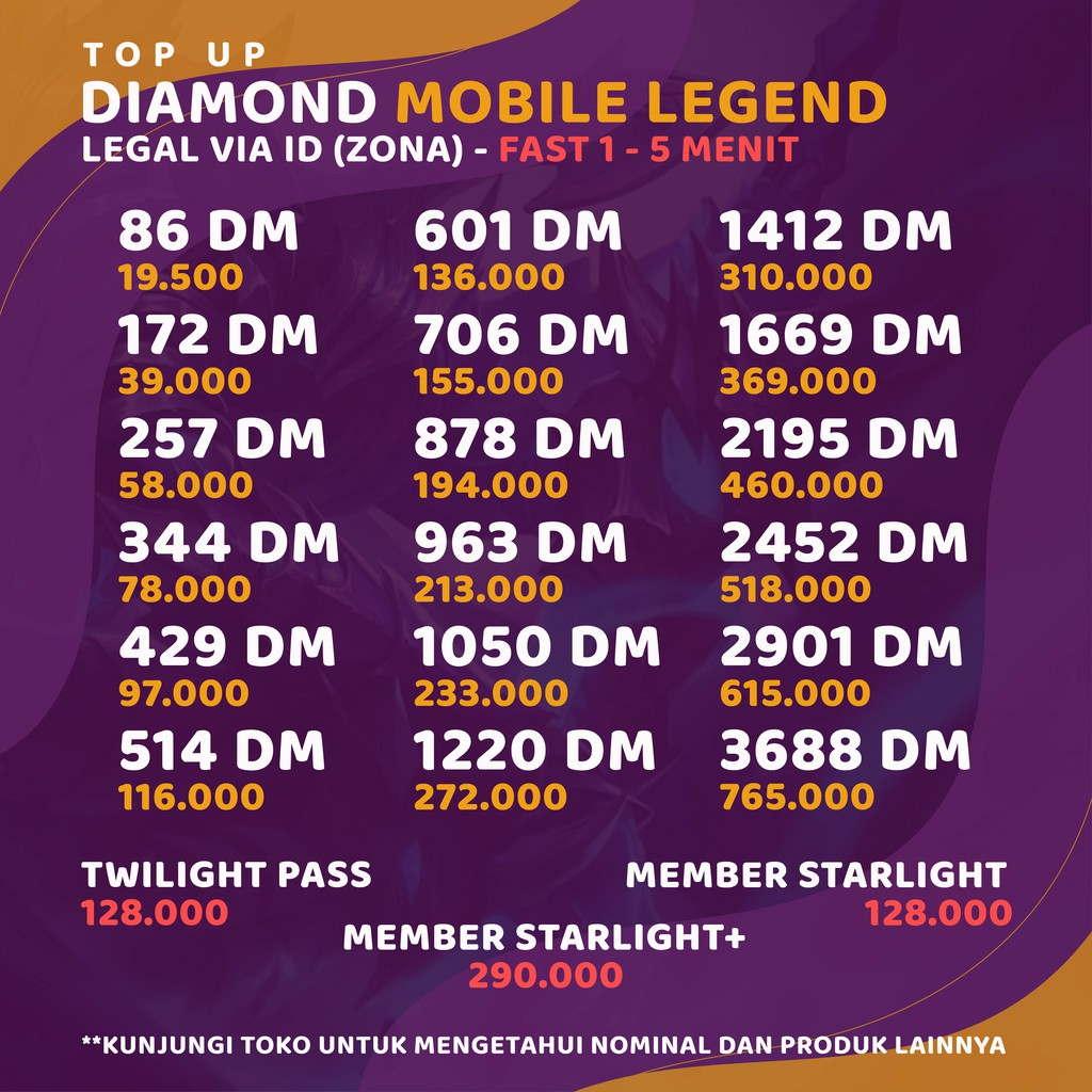 Cara Jualan Diamond Mobile Legends